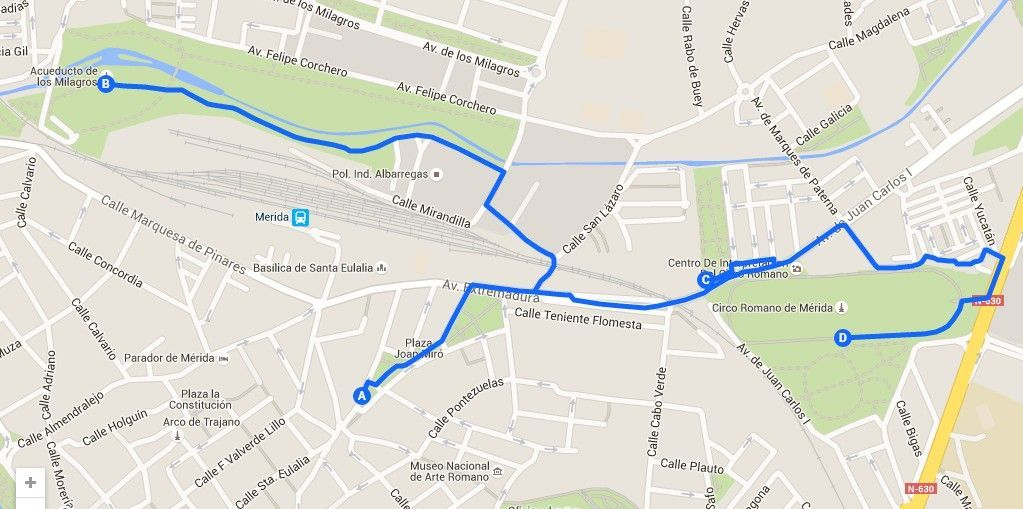 Mapa ruta 2 merida - Los viajes de Margalliver